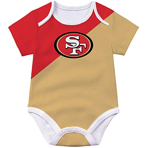 Dcoolone San Francisco Football Team Babysuit 3D Print Onesies Body Suit Infant and Toddler Sports Fan Rompers