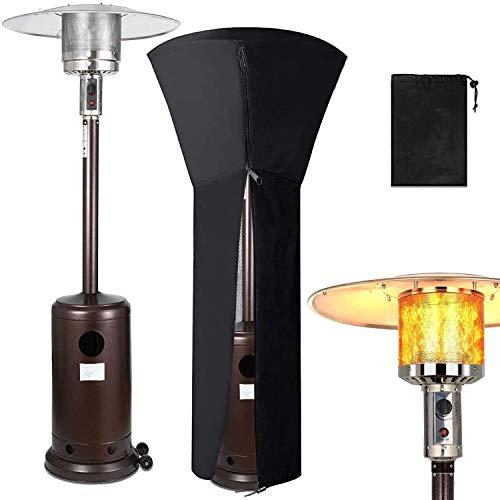 EPROSMIN 48000 btuPatio Heater for Outdoor - Gas Standing Propane Patio Heater,Floor Standing with Wheels and Cover for Garden Wedding,Party