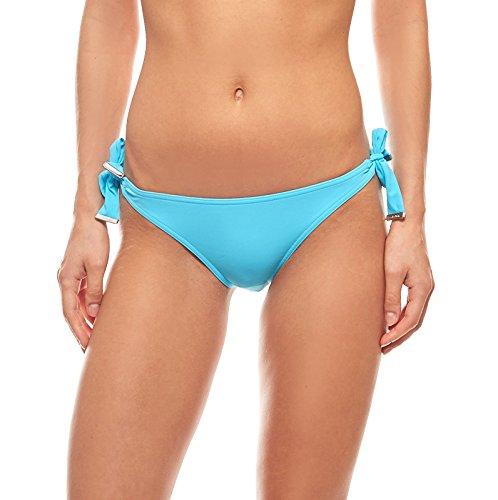 Calvin Klein Blue Bikini Bottoms Tie Side Full Classic Sky Blauw