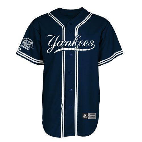 Majestic MLB New York Yankees Mariano Rivera Signature Series Herren Trikot, Herren, Navy