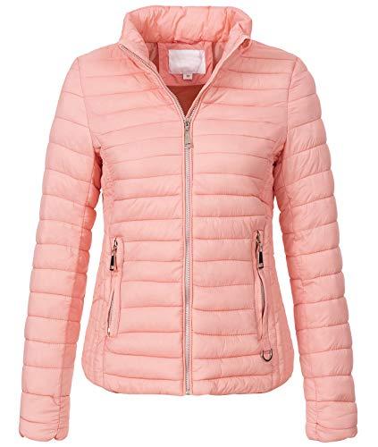 Rock Creek Damen Steppjacke Übergangsjacke Leicht Outdoorjacke Damenjacke Frauen Jacken Gesteppte Jacken Herbstjacke Jacke Weste D-427 Rosa L