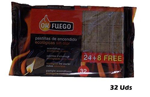 Paquete 32 Pastillas Encendido ECOLÓGICAS SIN Olor
