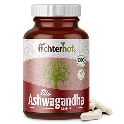 Ashwagandha Kapseln BIO (150 Stück) | 500 mg pro Kapsel | indischer Ginseng | 100{af903396846cb26f173bb52470372288478528738be4bab0183fcd68f4ea2b98} Vegan