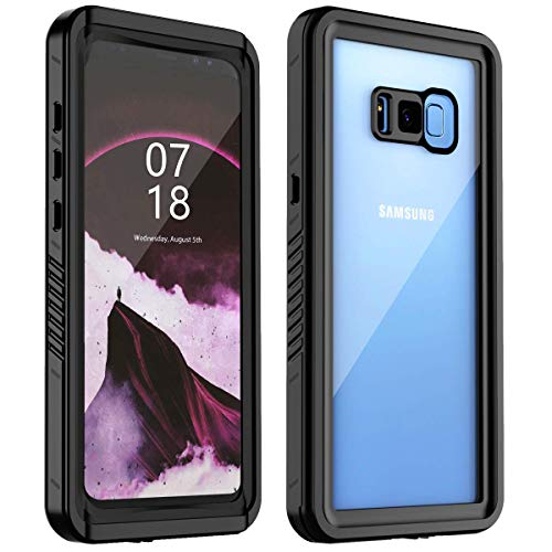 YUANSE Samsung Galaxy S8 Plus Waterproof Case, S8 Plus Case Full Body Protection with Built in Screen Protector Underwater IP68 Shockproof Dustproof Snowproof Case for Galaxy S8 Plus Black