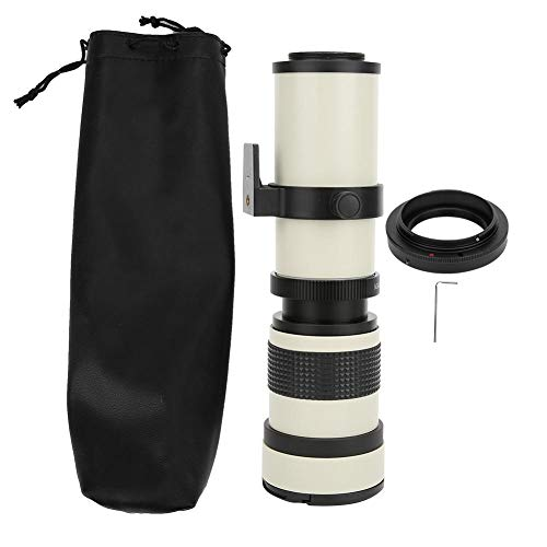 Bigking Objektiv Tele, weißes 420-800 mm Blende F/8.3-16 Volles manuelles Fokussieren Teleskop Zoom Teleobjektiv für Canon EF Mount Kamera