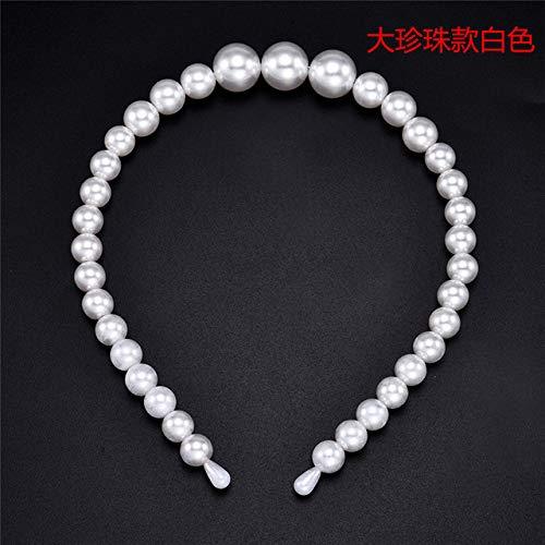 GUANGUA Large Perle Bande de Cheveux Dames Arc Tournesol Cerceau Filles Cheveux Accessoires Accessoires de Mode