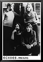 ملصق مطبوع فني لفرقة بينك فلويد إيكوز من ألبوم ميد 1971 مقاس 36×24، أبيض وأسود