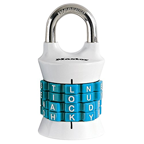 Master Lock 1535DWD Locker Lock Set Your Own Word Combination Padlock, 1 Pack, Assorted Colors