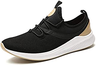 MYHYZZ-Athletic Shoes Fashion Sneaker for Men Athletic Sports Shoes Lace up Breathable Mesh Fabric Lightweight Fitness Training Running Men's Casual Shoes