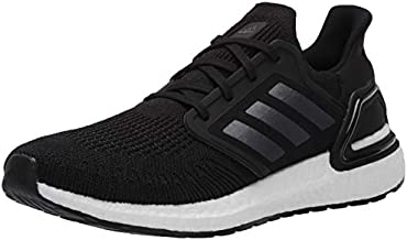 adidas mens Ultraboost 20 Sneaker, Black/Night Metallic/ White, 8.5 US