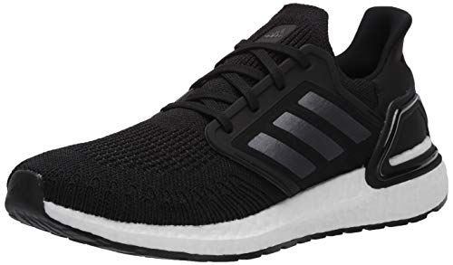 adidas Men's Ultraboost 20 Running Shoe, Black/Night Metallic/White, 10 M US