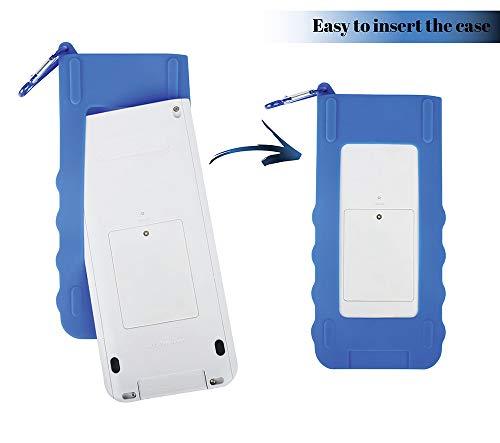 Sully Silicone Skin for Ti Nspire CX/CX CAS Handheld (Blue) w/Screen Protector - Silicon Cover Case for Ti-Nspire CX Hand held Graphing Calculator - Protective & Anti-Scretch Skins & Screen Covers Photo #2