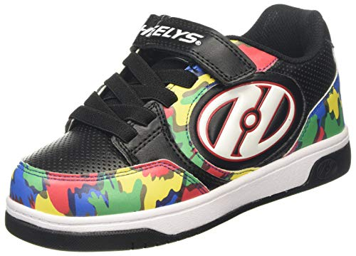 Heelys Jungen Plus X2 Sneaker, Mehrfarbig (Black/Multi/Paint Black/Multi/Paint), 33 EU