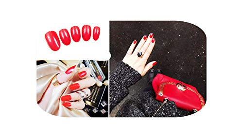 24 Pcs/ensemble Bean Sand Pure Color Design Fini Faux s Taille Courte Lady Filles Pleine Presse sur s Conseils Patch Art Outil Mariée-F22-