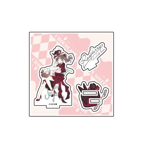 チョコケーキ6姉妹 01 ラズベリーチョコケーキ イースターver. アクリルフィギュアプレート
