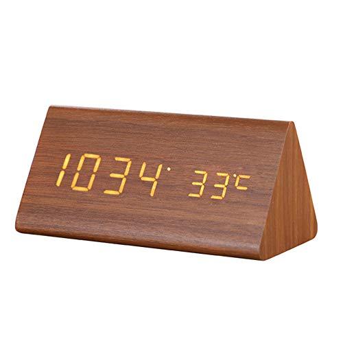 Digitale Wekker Met Temperature Data Display & 3 Alerts USB Opladen Klok Geschikt Voor Slaapkamers Woonkamer Keuken Best Gift for Children,White font