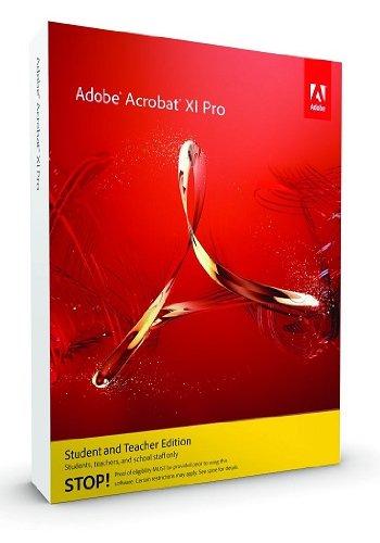 Adobe Acrobat XI Pro Student and Teacher Edition - Autoedición (ENG, Educación (EDU), XGA, Internet Explorer 7, Firefox, Chrome, PC)