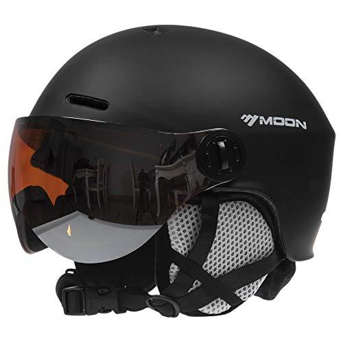 Ski & Snowboard Helm met Goggles in Unisex, Professionele Helm voor Snowboarden met Oordopje Goggle Mannen Vrouwen Skihelm Veiligheid Skiën Helm Skiën Sneeuwsporthelm