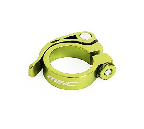 MSC Bikes MSC Quick Binder Aluminium 34.9 mm - Cierre rápido tija de sillín de Ciclismo, Color Verde anodizado