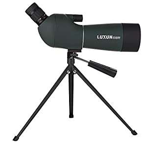 UrChoiceLtd Spotting Scope Telescope, LUXUN 20-60x60 Power Monocular Focus Zoom Outdoor Portable HD Handheld Monoculars Telescope 45-Degree Angled Eyepiece with Tripod for Outdoor Sporting Activities