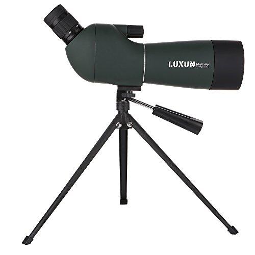 UrChoiceLtd catalejo telescopio, LuXun 20 - 60 x 60 Zoom de alta potencia monocular de enfoque portátil HD Telescopio Ocular en ángulo de 45 grados con trípode para actividades deportivas resistente