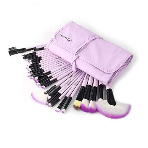 Nieuwe voordelige professionele make-upkwastenset voor oogschaduw, lippenstiftpoeder, enz. Eén maat lila