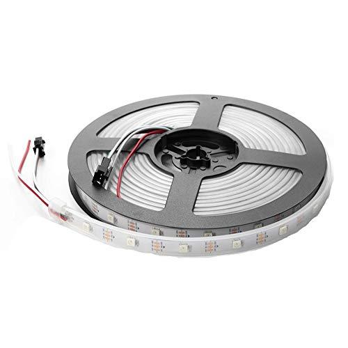 Luces Led RGB luz de Tira llevada Individualmente direccionables luz de Tira llevada IP30 65 67 5V para Decoración De Fiestas En Casa (Color : 1 Meters, Size : IP67)