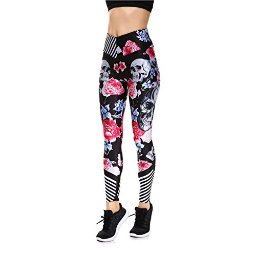 Lesubuy V Wide Waistband Full Length High Waisted Compression Gym Athletic Exercise Leggings Workout For Women,Totem,Medium