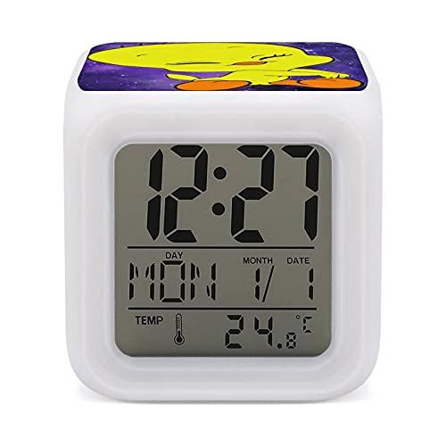 Tweety Bir-d - Reloj despertador colorido que cambia de color para niños, para dormir, entrenador, sueño, luz de despertar y luz de noche, talla única