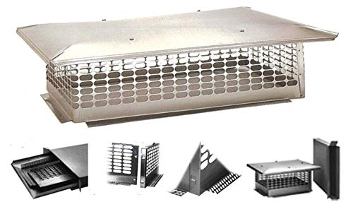 The Forever Cap CCSC2121 21 x 21 Stock Custom Stainless Steel Chimney Cap