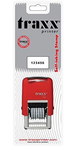 TRAXX 7836 Selbstfärbender Stempel mit 6 Zahlen (3 mm)