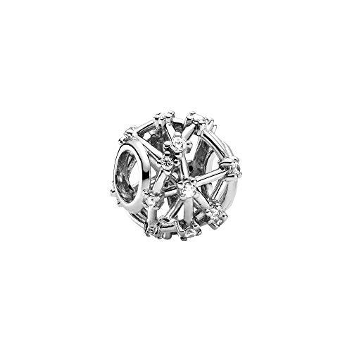 Pandora Colgante de plata de ley con diseño abierto (12 x 12 x 9,8 mm)