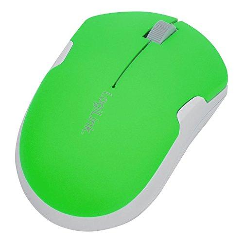 LogiLink ID0123 2,4 GHz Optische Travel Funk-Maus 1200 DPI in grün-weiß