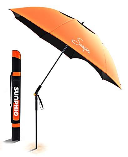 Sunphio Beach Umbrella Windproof and Heavy Duty...