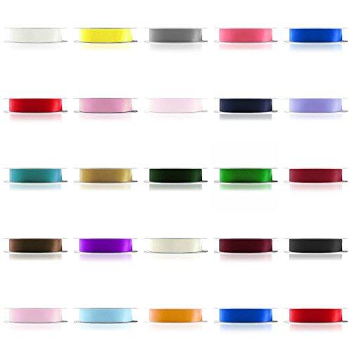 Farringtons  'Premium Qualität' 92M Rollen, Doppelseitig Satinband (Full Rollen). 3mm, 6mm, 10mm, 15mm, 25mm Breiten. 2kaufen +, Get 15% Off, Waldgrün, 6 mm