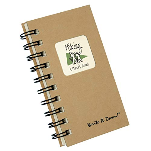 "Journals Unlimited ""Write it Down!"" Series Guided Journal, Hiking, A Hiker's Journal, with a Kraft Hard Cover, Made of Recycled Materials, 7.5""x 9"""