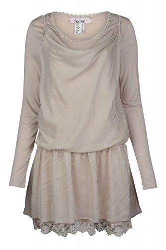 linea TESINI by heine Bluse Blusenshirt Oberteil Shirt Beige, Größenauswahl:50