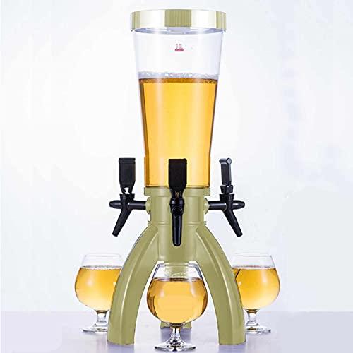 Torre De Cerveza, Dispensador De Cerveza De Fiesta De Barra De Casa con 3 Grifos Y Congelador, Dispensador De Bebidas Esféricas (Color Múltiple)(Size:3L,Color:A)