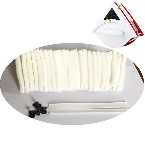 Topchances Juego de Repuesto Esponja Limpiador para el Lavado de la Ventana de Cristal magnética para vidrio de 15-24 mm de grosor