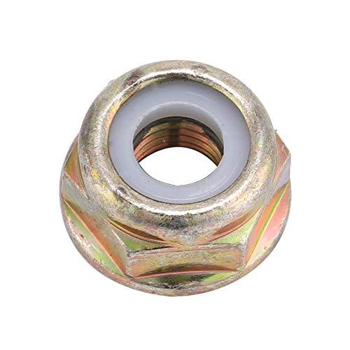 MAGT M10 Flanschmutter, Universal M10x1,25 Linksgewinde Ersatzklingenmutter, Freischneider Trimmer Zubehör (Gold) (Farbe : A)