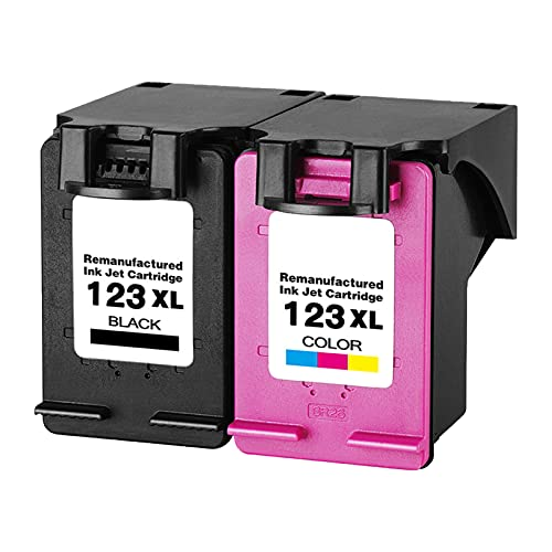 RICR 123xl Cartuchos De Tinta Remanufacturados para Reemplazo De para HP123XL, Compatible para HP DeskJet 1111 1112 2131 2132 2630 2632 2633 2652 5020 5030 5032 5220 5030 BK+C