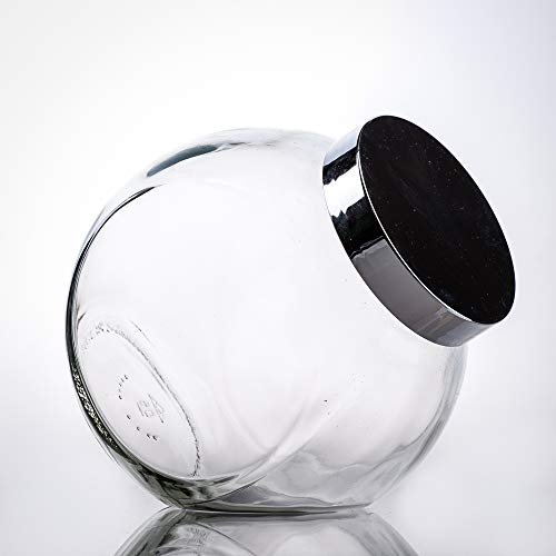 Flaschenbauer- 6X Bonbongläser 2l inklusive eines silbernen Kunststoffverschluss als Vorratsglas, zur Aufbewahrung von Kosmetikartikel oder für eine Candy Bar