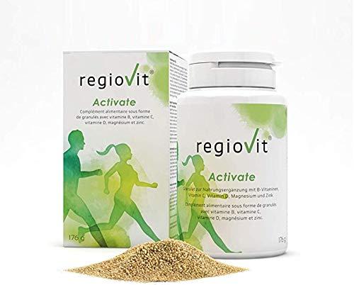 REGIOVIT® Activate Granulat Vitamin Mineralstoff-Komplex I Mikronährstoffe Hochdosiert I Multivitamin-Präparat mit Mineralien-Komplex Spurenelemente Ballaststoffe I Vitamin-Komplex Vegan 176g