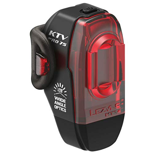 Lezyne KTV2 Pro Drive 75 Rear Light - Black/KTV 2 Bicycle Cycling Cycle Biking Bike Ride Mountain MTB Road Street City Urban Commuting Commute Lighting LED Bright Dark Night Red Tail Taillight