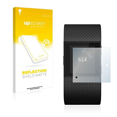 upscreen Entspiegelungs-Schutzfolie kompatibel mit Fitbit Surge – Anti-Reflex Bildschirmschutz-Folie Matt