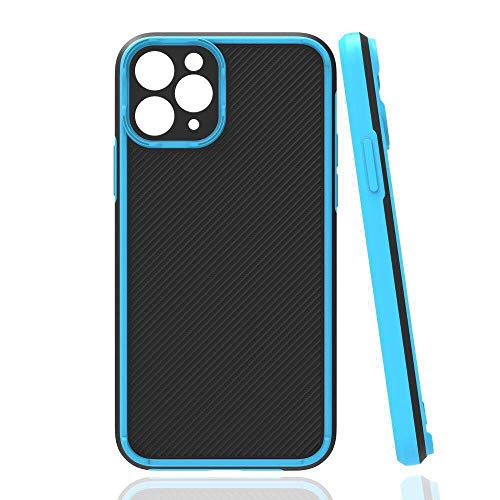 KANGHAR Compatible with iPhone 12 Rugged Case Camera Lens Protector Heavy Duty Non Slip Slim Fit Hard Cover Shockproof Protective Case Support Wireless Charging for iPhone 12 6.1 inches Blue