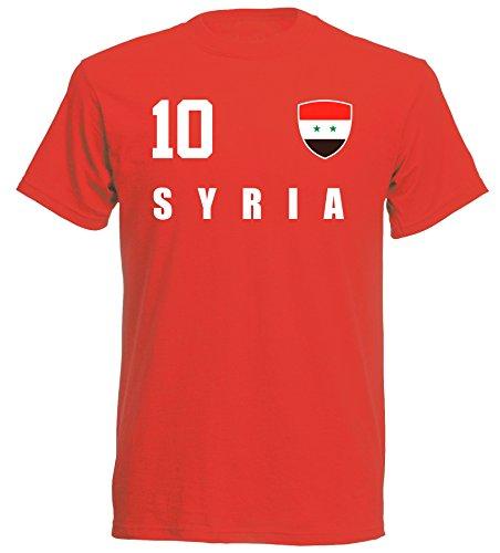 aprom - Syrien Kinder T-Shirt Trikot ALL-10 Rot - WM 2018 Fußball (104)