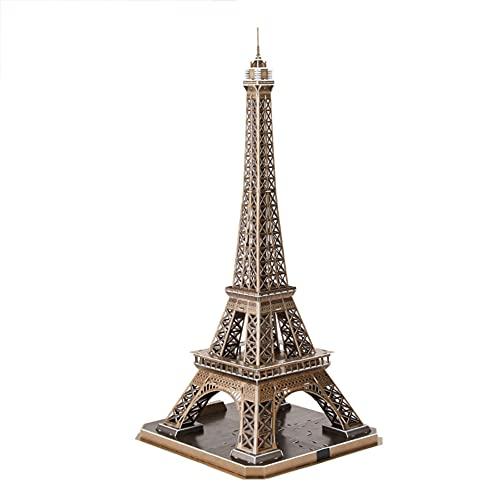 SDBRKYH Paris Eiffel Tower Model, Eiffel Tower Puzzle 3D montado en 3D Juguetes educativos Mundo Famoso Edificio Réplicas de réplicas de Recuerdos Regalos para niños