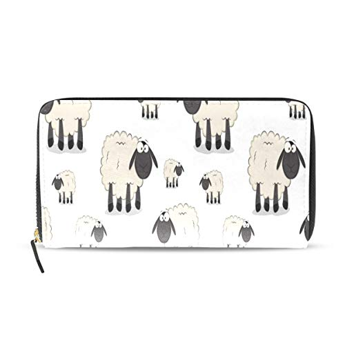 Schöne Schafe Wilde Tier Lange Passport Clutch Geldbörsen Reißverschluss Brieftasche Fall Handtasche Geld Organizer Tasche Kreditkarteninhaber Für Dame Frauen Mädchen Männer Reisegeschenk