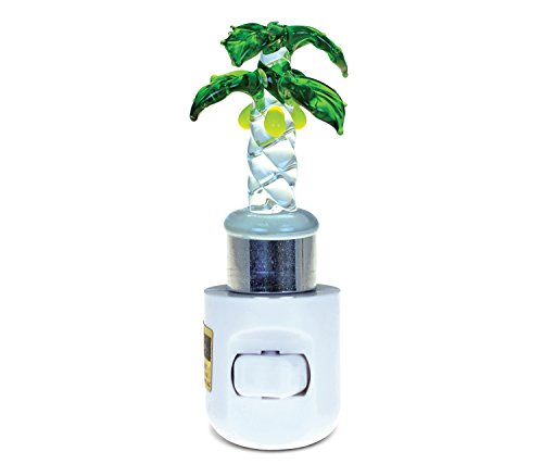 Puzzled Palm Tree Handcraft Art Glass Decorative Night Light Home Décor - Beach Theme - Unique and Elegant Gift - Item #9628